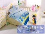 Постельное белье для новорожденных Altinbasak Vak Vak, голубой