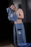 Набор для сауны мужской Karna Koral, синий-саксен