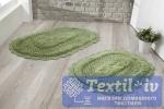 Набор ковриков для ванной Modalin Lokal, темно-зеленый