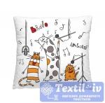 Декоративная подушка Волшебная Ночь Весёлые коты