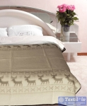 Одеяло Vladi Олени всесезонное, бел/беж