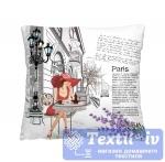 Декоративная подушка Волшебная Ночь Кафе в Париже