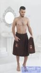 Набор для сауны мужской Karna Pamir, коричневый