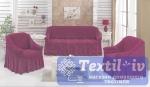 Комплект чехлов на 3-х местный диван и два кресла Evory, фуксия