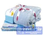 Постельное белье для новорожденных с покрывалом Hobby Zoo, голубой