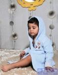 Халат детский с капюшоном Karna Teeny, голубой