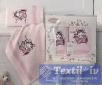Набор детских полотенец Karna Bambino Samalot, розовый