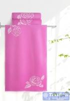 Полотенце Aquarelle Розы вид 1, нежно-розовый - орхидея