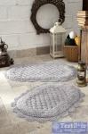 Набор ковриков для ванной Modalin Merit, светло-серый