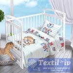 Постельное белье для новорожденных Valtery Мишка-Морячок