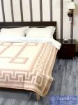 Одеяло Vladi Греция Шерсть всесезонное, бел/беж