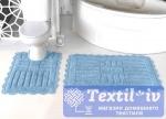 Набор ковриков для ванной Modalin Ancor, светло-голубой