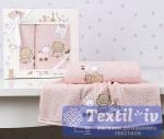Набор детских полотенец Karna Bambino Train, розовый