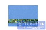 Полотенце Aquarelle Павлин вид 2, спокойный синий