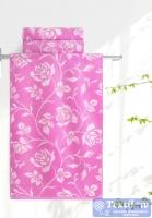 Полотенце Aquarelle Розы вид 2, нежно-розовый - орхидея