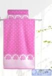 Полотенце Aquarelle Розы вид 3, нежно-розовый - орхидея