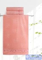 Полотенце Aquarelle Бабочки, розово-персиковый