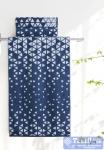 Полотенце Aquarelle Орион вид 1, белый - темно-синий