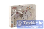 Полотенце-конверт детское Karna Bambino Slon, молочный