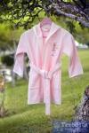 Халат детский с капюшоном Pupilla Kids, розовый