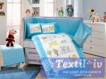 Комплект в кроватку Hobby Zoo, голубой