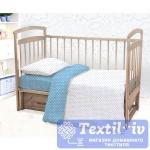 Постельное белье для новорожденных Этель Голубая мечта