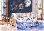 Комплект в кроватку Hobby Baby Sailor, синий