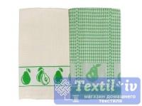 Набор кухонных полотенец Arloni Дюшес, зеленый-белый