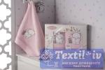 Набор детских полотенец Karna Bambino Slon, розовый