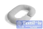 Наволочка на подушку для беременных Легкие Сны форма Rogal, трикотаж, меланж