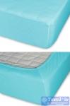 Простыня на резинке Cleo 012, бирюзовый