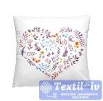 Декоративная подушка Волшебная Ночь Сердце