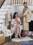 Набор халатов семейный Karna Adra, бежевый-кремовый