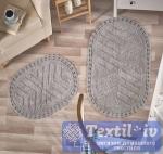 Набор ковриков для ванной Modalin Cross, серый
