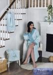 Халат с полотенцами Karna Adra, ментол