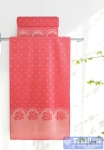 Полотенце Aquarelle Розы вид 3, розово-персиковый - коралл