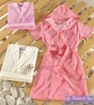 Халат домашний с капюшоном Virginia Secret 12119, розовый