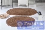 Набор ковриков для ванной Modalin Yana, горчичный