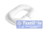Наволочка на подушку для беременных Легкие Сны форма Rogal, сатин, белый