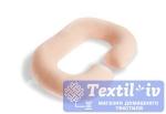 Наволочка на подушку для беременных Легкие Сны форма Rogal, трикотаж, персиковый