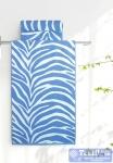 Полотенце Aquarelle Мадагаскар зебра, белый-спокойный синий