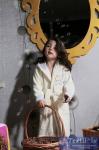 Халат детский с капюшоном Karna Teeny, кремовый