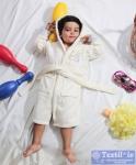 Халат детский с капюшоном Karna Teeny, экрю