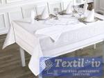 Скатерть с салфетками Karna Caramel прямоугольная, белый