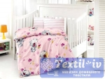Постельное белье для новорожденных Altinbasak Puffy, розовый