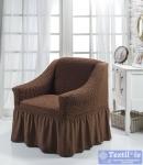 Чехол на кресло Bulsan, коричневый