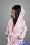 Халат детский с капюшоном Karna Teeny, розовый