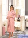 Халат Karna Basic, грязно-розовый
