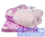 Постельное белье для новорожденных с покрывалом Hobby Little Sheep, розовый