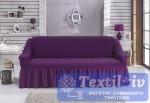 Чехол на 3-х местный диван Bulsan, фиолетовый